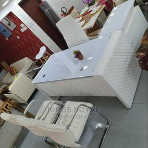 Immaculate White Table With 3 Chairs Executive | Furniture for sale in Lagos State, Lekki