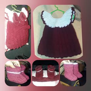 Hand Knitted Baby Gown With Boot and Headband | Children's Clothing for sale in Lagos State, Apapa