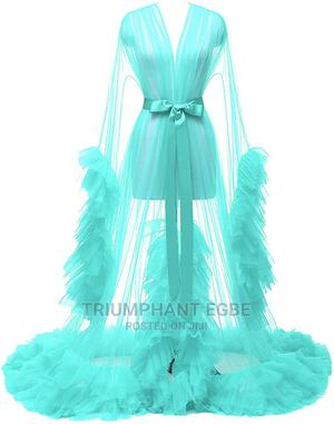 Tulle Ruffle Bridal Robe   Clothing for sale in Delta State, Ugheli