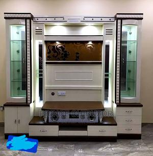 Wall Shelf Tv Stand With Wine Bar and Mp Music Player | Furniture for sale in Lagos State, Ojo