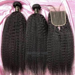 Pure Virgin Luxury Hair Kinky Straight With Closure | Hair Beauty for sale in Lagos State, Ojo