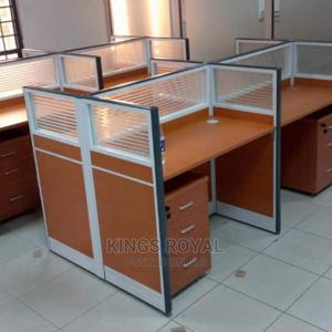 Workstation by 4 With Mobile Drawer | Furniture for sale in Lagos State, Lekki