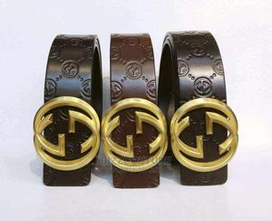 High Quality Gucci Black Leather Belts Available for Sale   Clothing Accessories for sale in Lagos State, Magodo