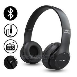 P47 Bluetooth Over Ear Foldable Headset | Accessories for Mobile Phones & Tablets for sale in Lagos State, Ikeja