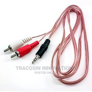 3.5mm Jack Stereo to 2 RCA Audio Cable 1.5m | Accessories & Supplies for Electronics for sale in Lagos State, Yaba