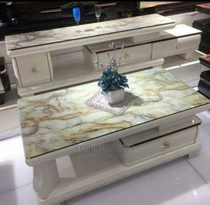 High Class Tv Stand With Centre Table - Glass Top   Furniture for sale in Lagos State, Orile