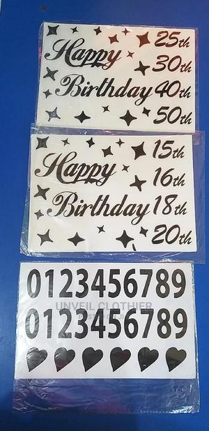 Alphabet Balloon Stickers- Happy Birthday . | Babies & Kids Accessories for sale in Lagos State, Ikeja