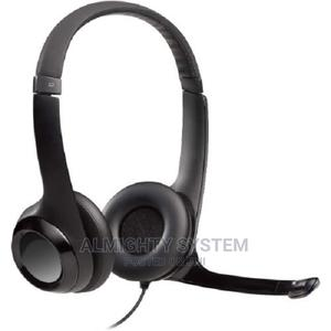Logitech USB Headset H390 With Noise Cancelling Mic | Headphones for sale in Lagos State, Ikeja