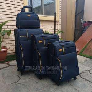 All Round Wheel Leaderpolo Trolley Luggage Blue Bag | Bags for sale in Lagos State, Ikeja