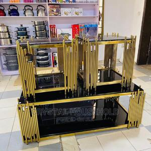 Black Quality Center Table With Gold Leg | Furniture for sale in Lagos State, Ojo