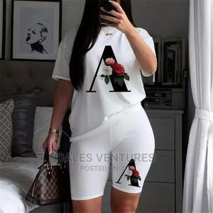 Women 2 Pc Set T-Shirts Short Sleeve Joggers Sexy Outfits   Clothing for sale in Lagos State, Lekki