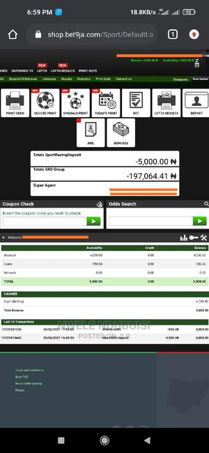 Bet9ja Account   Other Services for sale in Anambra State, Onitsha