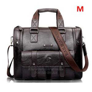 Men Leather Black Briefcase Business Handbag Messenger Bags | Bags for sale in Abuja (FCT) State, Wuse 2