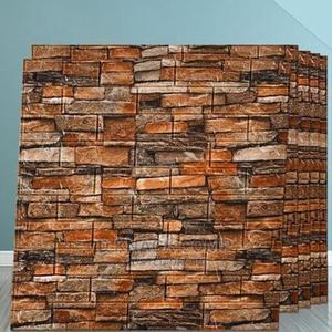 10pcs 70cm × 77cm Pefoam 3d Self Adhesive Brick Wallpaper   Home Accessories for sale in Lagos State, Surulere