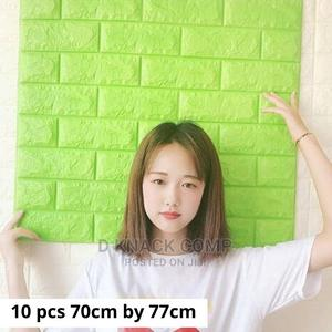 10pcs Pefoam 3d Self Adhesive Brick Wallpaper Sticker GREEN   Home Accessories for sale in Lagos State, Surulere