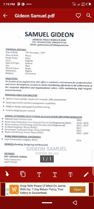 Site Engineer | Engineering & Architecture CVs for sale in Bayelsa State, Yenagoa
