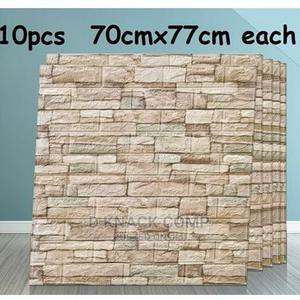 10pcs Pefoam 3d Self Adhesive Brick Wallpaper Sticker LBRWN   Home Accessories for sale in Lagos State, Surulere