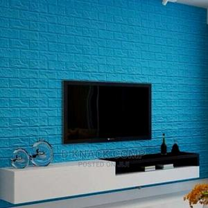 10pcs Pefoam 3d Self Adhesive Brick Wallpaper Sticker - Blue   Home Accessories for sale in Lagos State, Surulere