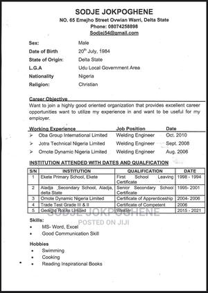 Driver CV   Driver CVs for sale in Rivers State, Port-Harcourt