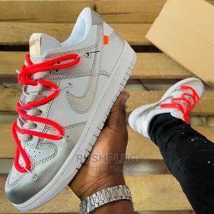 "Off-White X Nike Dunk Low ""Silver//Orange""   Shoes for sale in Lagos State, Lagos Island (Eko)"