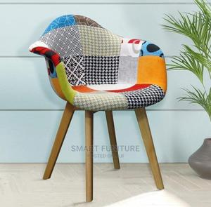 Colourful Fabric Wooden Leg Chair | Furniture for sale in Lagos State, Ikoyi