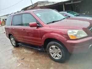 Honda Pilot 2003 EX 4x4 (3.5L 6cyl 5A) Red | Cars for sale in Lagos State, Isolo