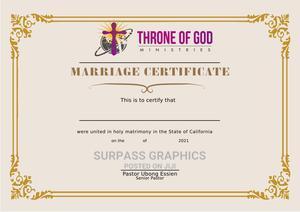 Certificate Design | Printing Services for sale in Akwa Ibom State, Ikot Ekpene