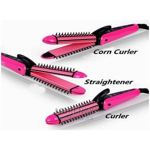 3-In-1 Hair Curler and Straightener + Brush   Tools & Accessories for sale in Lagos State, Alimosho