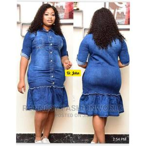 Elegant Classic Female Quality Denim Jeans Gown | Clothing for sale in Lagos State, Ikeja