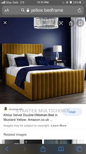 41⁄2by6 Royal Upholstery Bedframe | Furniture for sale in Lagos State, Lekki