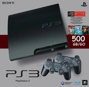 Playstation 3 Slim With 10 and 2 Pads | Video Game Consoles for sale in Lagos State, Ikorodu