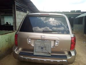 Honda Pilot 2004 EX-L 4x4 (3.5L 6cyl 5A) Gold | Cars for sale in Lagos State, Abule Egba