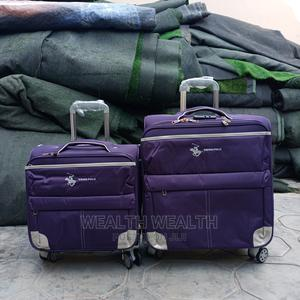 Portable Zippered Swiss Polo Short Luggage Purple Bag | Bags for sale in Lagos State, Ikeja