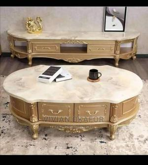 Imported Royal Marble Tv Shelf and Center Table   Furniture for sale in Oyo State, Ibadan