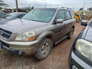 Honda Pilot 2005 EX-L 4x4 (3.5L 6cyl 5A) Gold | Cars for sale in Lagos State, Abule Egba