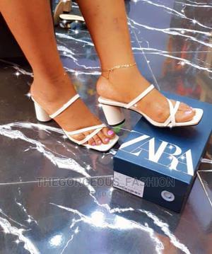 Zara Block Heel Slippers | Shoes for sale in Lagos State, Apapa