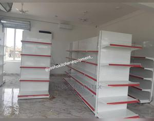 Red Single Sided Supermarket Shelf | Store Equipment for sale in Lagos State, Alimosho