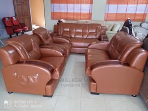 Brown Leather Sofa   Furniture for sale in Edo State, Benin City