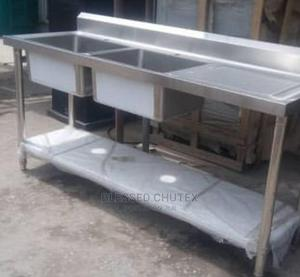 New 2 Bowl Stainless Steel Sink   Restaurant & Catering Equipment for sale in Lagos State, Surulere
