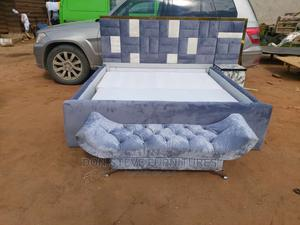 6by6 Padded Upholstery Bed Frame With Automan   Furniture for sale in Lagos State, Ojo