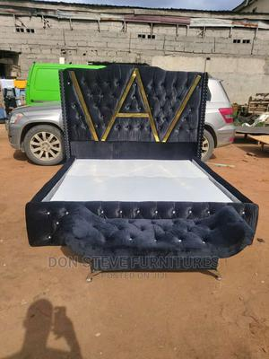 6/6 Upholstery Bed Frame With Automan | Furniture for sale in Lagos State, Ojo