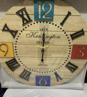 Wooden Decorative Wall Clock | Home Accessories for sale in Lagos State, Lagos Island (Eko)