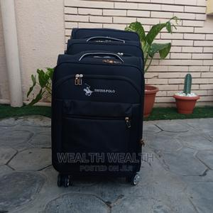 3 Set Standard Swiss Polo Trolley Luggage Black Bag | Bags for sale in Lagos State, Ikeja