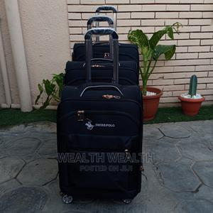All Round Wheel Swiss Polo Trolley Luggage Black Bag | Bags for sale in Lagos State, Ikeja