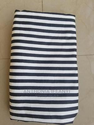 Male Cotton Stripe Black and White Fabrics | Clothing for sale in Lagos State, Alimosho