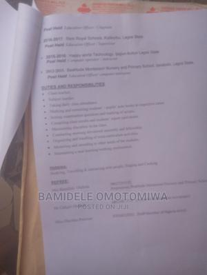 Clerical Administrative CV | Clerical & Administrative CVs for sale in Lagos State, Ikotun/Igando