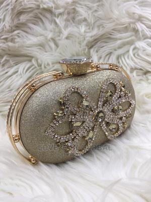 Gold Clutch Purse. Designer, Quality, Classic Clutch Purse | Bags for sale in Lagos State, Lekki