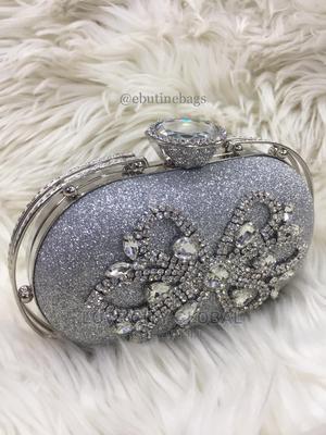 Silver Clutch Purse. Designer Quality Women's Clutch Purse | Bags for sale in Lagos State, Lekki