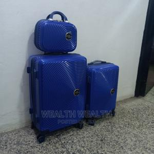 All Round Wheel Swiss Polo 3 Set Trolley Suitcase Blue Bag | Bags for sale in Lagos State, Ikeja
