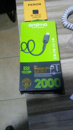 Oraimo Original Charger Cord and Peron Battery for Sale | Accessories for Mobile Phones & Tablets for sale in Rivers State, Port-Harcourt